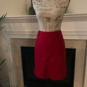 Red Wool Talbots Skirt